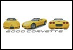 2000 Corvette - Cross Stitch Chart