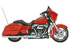 2006 Harley Davidson Street Glide (Orange) - Cross Stitch Chart