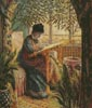 Camille Monet Embroidering - Cross Stitch Chart