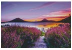 Lake Atitlan, Guatemala - Cross Stitch Chart
