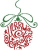 Abstract Christmas Bauble - Cross Stitch Chart