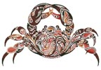 Abstract Crab - Cross Stitch Chart