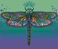 Abstract Dragonfly - Cross Stitch Chart