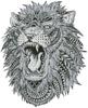Abstract Lion - Cross Stitch Chart