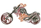 Abstract Motorbike - Cross Stitch Chart