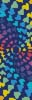 Abstract Rainbow Heart Design Bookmark - Cross Stitch Chart