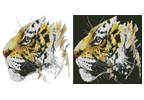 Abstract Tiger - Cross Stitch Chart