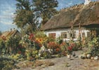A Cottage Garden with Chickens - Cross Stitch Chart