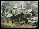 A Farmyard in Winter - Cross Stitch Chart