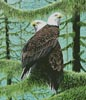 A Gathering of Eagles (Crop) - Cross Stitch Chart