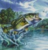 Airborne Bass (Crop) - Cross Stitch Chart