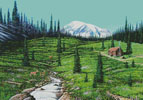 Alpine Meadow Cabin - Cross Stitch Chart
