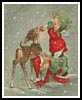 Angels feeding a  Reindeer - Cross Stitch Chart