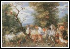 The Animals entering the Ark - Cross Stitch Chart