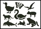 Animal Stencils - Cross Stitch Chart