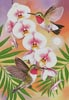 Annas Hummingbirds with Phalaenopsis - Cross Stitch Chart