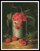 A pail of raspberries - Cross Stitch Chart