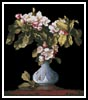 Apple Blossoms in a Vase - Cross Stitch Chart