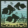Aquarium Silhouette 1 - Cross Stitch Chart
