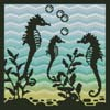 Aquarium Silhouette 2 - Cross Stitch Chart