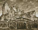 Artistic Castle (Sepia) - Cross Stitch Chart