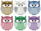 Artsy Owls - Cross Stitch Chart