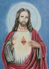 Sacred Heart of Jesus 2 - Cross Stitch Chart