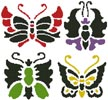 Asian Butterfly Set - Cross Stitch Chart