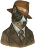 Australian Cattle Dog Reporter - Cross Stitch Chart