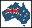 Australian Map - Cross Stitch Chart