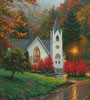 Autumn Chapel (Crop) - Cross Stitch Chart