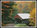 Autumn Covered Bridge - Cross Stitch Chart
