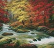 Autumn in Boulder Creek (Cushion) - Cross Stitch Chart