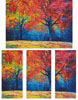 Autumn Landscape Abstract - Cross Stitch Chart