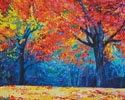 Autumn Landscape Abstract (Crop) - Cross Stitch Chart