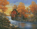 Autumn Sunset at the Old Mill - Cross Stitch Chart