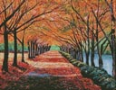 Autumn Tree Lane - Cross Stitch Chart