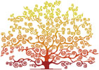 Autumn Tree Silhouette - Cross Stitch Chart