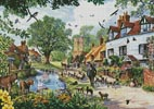 A Village in Spring - Cross Stitch Chart