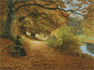 A Wooded Path in Autumn - Cross Stitch Chart