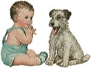 Baby and Dog - Cross Stitch Chart