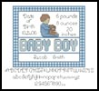 Baby Boy Sampler 2 - Cross Stitch Chart