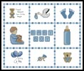 Baby Boy Sampler Small - Cross Stitch Chart