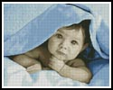 Baby Face (Blue) - Cross Stitch Chart