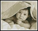 Baby Face (Sepia) - Cross Stitch Chart