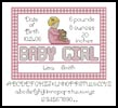 Baby Girl Sampler 2 - Cross Stitch Chart
