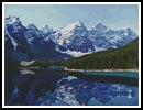 Moraine Lake, Banff, Canada - Cross Stitch Chart