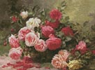 Basket of Roses Painting - Cross Stitch Chart