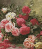 Basket of Roses Painting (Crop) - Cross Stitch Chart