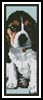 Basset Hound Puppy Bookmark - Cross Stitch Chart